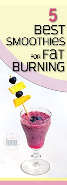 5 Best Smoothies For Fat Burning
