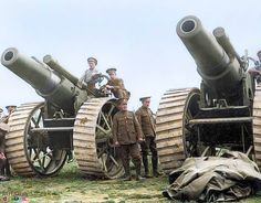 8-inch howitzers of 135th Siege Battery at La Houssoye on the Somme, 25 August 1916. The 8-inch howitzer had a range of about 12,300 yards (11.24 km), and fired a 200lb (90.8 kg) shell. Most heavy artillery weapons were used by units of the Royal...