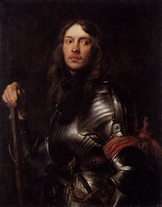 Portrait of a Man in Armour with Red Scarf by DYCK, Sir Anthony Van #art