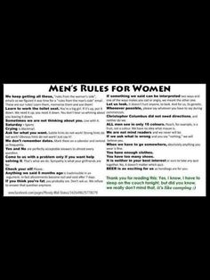 Man Rules from men