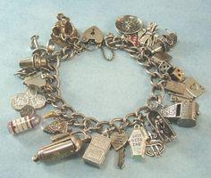 """vintage """"vices"""" charm bracelet"""