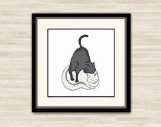 Cross Stitch Pattern PDF Cat love Gift original by TimeForStitch