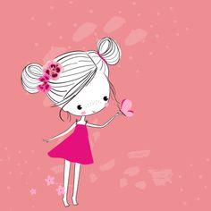Girl Cartoon, Cute Cartoon, Cartoon Art, Animated Birthday Cards, Funny Birthday Cards, Animated Emojis, Animated Gif, Beautiful Fantasy Art, Beautiful Gif