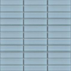 Glass subway tile 1x4 blue Vapor tile perfect for any tile backsplash ideas