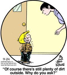 Lots of dirt.  Family Circus for 9/24/2014 | Family Circus | Comics | ArcaMax Publishing