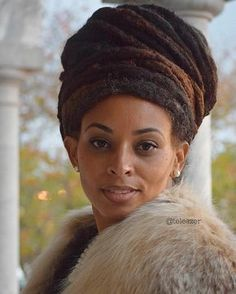 Her crown. Her Locs. Beauty.