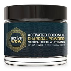 Teeth Whitening Kit | Active Wow Teeth Whitening Charcoal Powder Natural -- To view further for this item, visit the image link. Note:It is Affiliate Link to Amazon.
