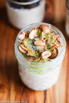 Twenty Healthy Overnight Oatmeal Recipes - these no-cook oatmeal in mason jars are a quick, healthy grab-and-go breakfast. Make a batch for the week and use any of these 20 recipe combinations. Nutrition facts included in this post.