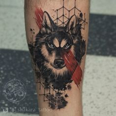 Wolve tattoo on calves trash polka by Tatyana Shakara Fox Tattoo Men, Wolf Tattoos Men, Animal Tattoos, Mark Tattoo, Tattoo Pain, Tattoo Motive, Wolf Tattoo Forearm, Wolf Tattoo Sleeve, Men Finger Tattoos