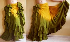"""Orchard"" Double Dyed 25 Yard Skirt  You can order yours here:  http://www.paintedladyemporium.com/Shop-Here.html"
