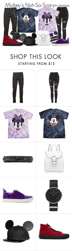 """Mickey Mouse + Minnie Mouse"" by leslieakay ❤ liked on Polyvore featuring Yves Saint Laurent, Topshop, Effy Jewelry, Anne Klein, Pierre Hardy, Daniel Wellington, Vans, Halloween, disney and disneybound"
