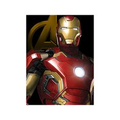 The Avengers: Age of Ultron - Iron Man Poster ($9.09) ❤ liked on Polyvore featuring home, home decor, wall art, comic posters, comic book wall art, iron home decor, iron wall art and cartoon posters