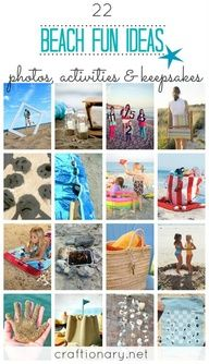 22 Summer Beach Activities Fun for Kids and Parties Awesome ideas for your next day at the beach! Fun for all ages-- includes, activities, crafts, tips, and photo ideas! Summer Vibe, Summer Beach, Summer Fun, Beach Fun Kids, Fun Beach Games, Summer Parties, Photos Bff, Beach Photos, Outdoors