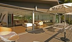 Indoor areas straight to outdoor, like it