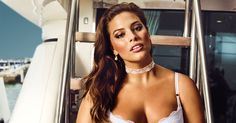 Plus-size model Ashley Graham models seven looks from her new Addition Elle line of bridal lingerie, on sale March 23. See the styles here!