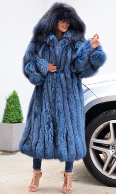 ROYAL SILVER FOX LONG FUR COAT HOOD CLASS OF CHINCHILLA SABLE MINK JACKET TRENCH | Clothes, Shoes & Accessories, Women's Clothing, Coats & Jackets | eBay!