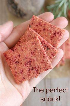 Beet & Rosemary Crackers