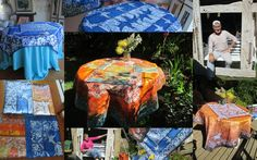 We sell our Batik on ETSY, in our shop goldphinbatik. Our workshop is small and we do whatever we do ourselfes, We make tablecloths, silk scarfs, Murals and Fine Art. Tablecloths, Sell On Etsy, Scarfs, Murals, Workshop, Vibrant, Fine Art, Silk, Pictures
