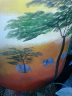 Damajuana pintada a mamo