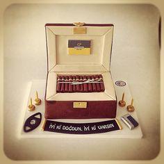 Cohiba Cigar Box Cake                                                                                                                                                     More