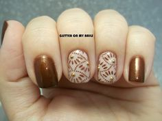 bronce & blanco (GLITTER ON MY NAILS)
