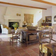 I am in love with the saltillo mexican terra cotta floor for Southwestern flooring