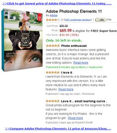 Adobe Photoshop Elements 11 -  Adobe Photoshop Elements 11 new version has three function features: ONE. Use Adobe Photoshop Elements 11 for all your pictures needs. Intuitively organize and find your old and new photos; edit and enhance them with some advanced function; create private custom photo keepsakes; and share via... - http://coupon2014.com/adobe-photoshop-elements-11/