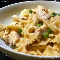 Easy Lemon Chicken Pasta - #easy, #healthy #pasta dinner! by @TheWearyChef