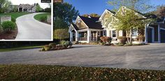 Before and After driveway featuring Belgard pavers.