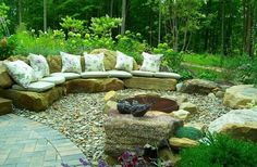 Outdoor Furniture of Rock & Stones home outdoors garden rock decorate patio furniture entertaining