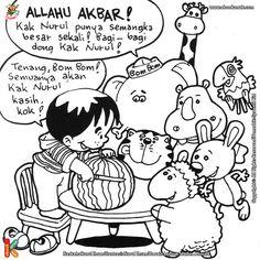 ebook seri mewarnai cerita thayyibah allahu akbar halaman profil penulis dan ilustrator
