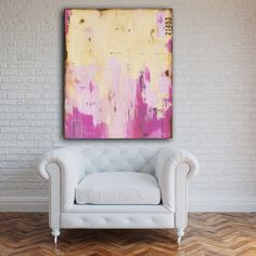"Title: One Sweet Day $95 OFF!  Made on 30x40x1.5 canvas - layers of beautiful colors with urban contemporary charm! Please note that if this painting is being shipped outside the US it will come un-stretched and rolled intake for shipping.  100% ORIGINAL – ONE-OF-A-KIND PAINTING BY ERIN ASHLEY ©  HIGH QUALITY GALLERY WRAPPED CANVAS WITH SIDES 1-1/2INCH DEEP PAINTED IN BLACK  PAINTING WILL ARRIVE WITH SIGNED ""CERTIFICATE OF AUTHENTICITY""  SIGNED BY ARTIST EITHER ON FRONT OR SIDE OF CANVAS AND…"