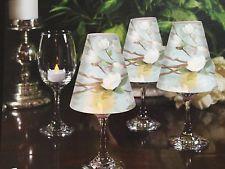 TRANSLUCENT PAPER WINE GLASS SHADES  -MAGNOLIA BRANCH  - NEW