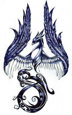 """Résultat de recherche d'images pour """"tatouage phoenix"""""""