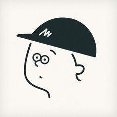 My logo #selfportrait #face #portrait #artist #popart #instaart #sketch #instagood #character #logo #cap #seijimatsumoto #松本誠次 #art #artwork #draw #drawing #illustration #illust #illustrator #design #graphic #pen #イラスト #似顔絵 #絵 #デザイン #帽子 #ロゴ