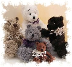 Miniature Crocheted Teddy Bear Pattern #2 pattern by Jennine Rohrbaugh (The Beary Basket)