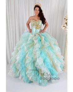 Aqua Quinceanera Dresses, Quinceanera Gowns, Vestidos de Quinceanera