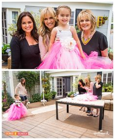 Make your own Flower Girl Dresses w/ @tmemme28's simple & adorable #DIY! Catch #homeandfamily weekdays at 10/9c on Hallmark Channel!