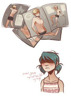 If Adrien modeled underwear ROFL (Miraculous Ladybug, Marinette)