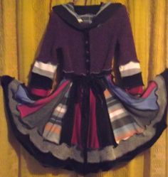 up cycled elf coat Size 8 years