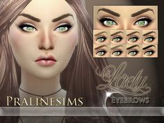 Lady Eyebrows by Pralinesims at TSR via Sims 4 Updates