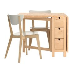 NORDEN/NORDMYRA Bord og 2 stole IKEA