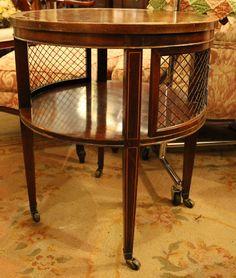 petite antique serpentine dressing table, vanity, or writing desk