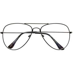 26210440c87 Unisex Clear Lens Classic Metal Aviator Eyeglasses Frames a1910 (€18) ❤  liked on