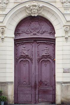Purple Door Paris Photography Plum by EyePoetryPhotography on Etsy, $35.00
