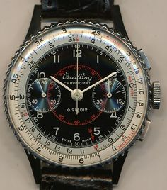 Mint Vintage 1946 Breitling 769 Chronomat Pat 217012 Military RARE Black Dial | eBay