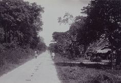 De Kwattaweg in Paramaribo, Suriname 1920
