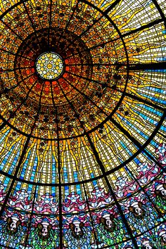 Stained glass Palau Musica Catalana by Rodrigo Alonzo on 500px