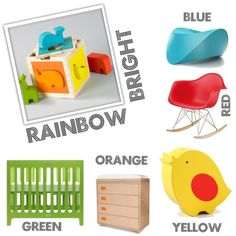 Brightly colored and adorable accents to perk up any #nursery!