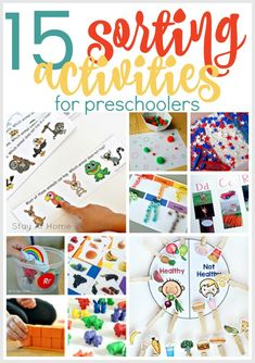 Why Preschoolers Need to Know How to Sort | Sorting activities for preschoolers | math activities for preschoolers